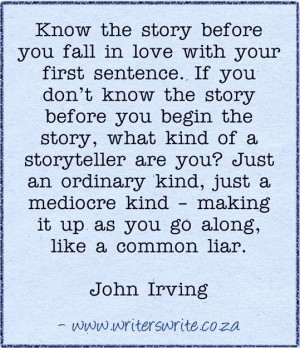 ... John Irving Quotes, Writing Inspiration, Interesting Quotes, Writing