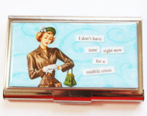 Case, Funny Card Case, Humor, Funny Business Card Case, Midlife Crisis ...