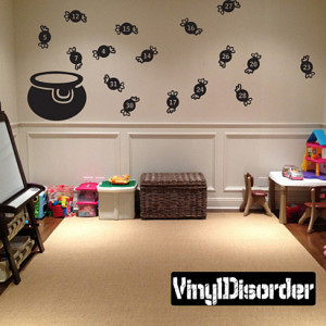 Halloween Candy Bowl Witch Brew Holiday Vinyl Wall Decal Mural Quotes ...