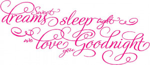 Baby Girl Quotes Little Girl & Boy Wall Quotes Sweet Dreams Goodnight