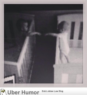 My friend caught his twins on the baby monitor