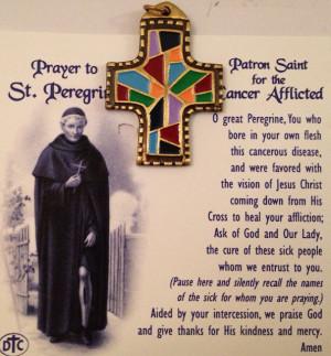 prayer to saint peregrine pray hard and then pray harder lol i have a ...