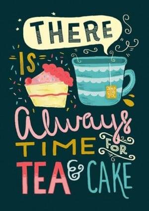 Tea and cake time