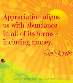 Appreciation quotes sayings abundance money