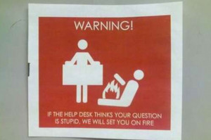 Funny Help Desk Signs