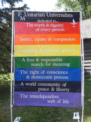 The seven principles which Unitarian Universalist congregations affirm ...