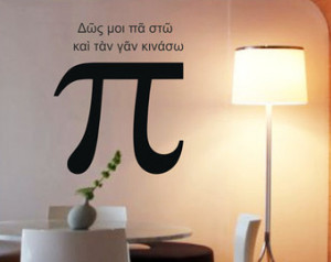 Science art Archimedes ancient Greek quote