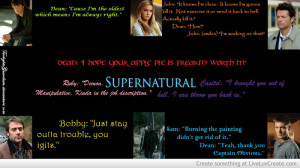 Supernatural Cast And Quotes