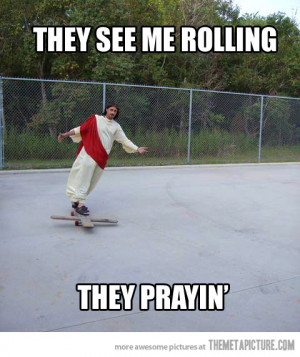 Funny photos funny Jesus skating cross