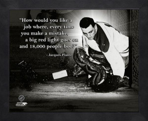 Montreal Canadiens Jacques Plante Framed Pro Quote