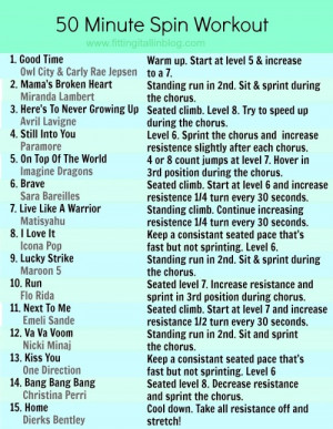 Spinning Class Funny Quotes Spin Class Workout Routine