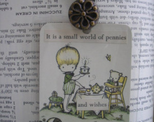 Handmade Bookmark Sweet Little Boy
