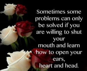 How To Open Your Ears Heart and Head Quote pic