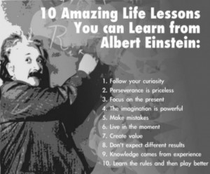 10 Amazing Life Lessons You Can Learn From Albert Einstein :