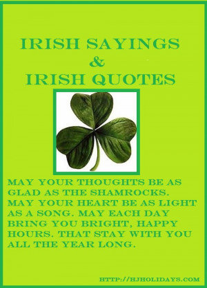 Irish Sayings, Proverbs, Blessings, and Irish Toasts for St. Patrick ...