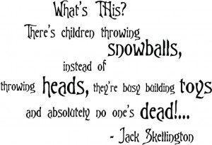 Nightmare Before Christmas Wall Quotes