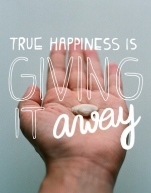 giving it away giving back picture quote