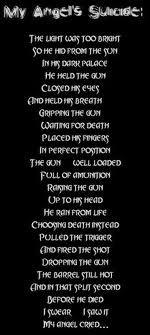 Teen Suicide Poems Choosing death instead