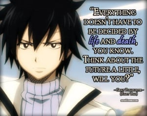 Fairy Tail: Gray Fullbuster quote.