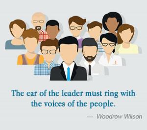 servant leadership quote woodrow wilson