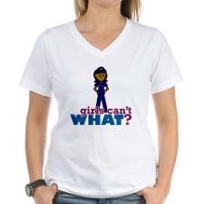 Woman Police Officer Women's V-Neck T-Shirt for