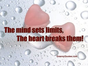 Cute One Line Love Quotes For Him ~ Group of: The Mind sets Limits ...
