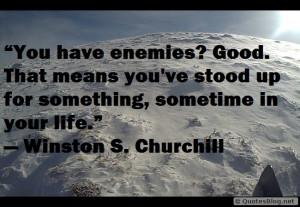 Motivational quote about enemies