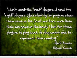 Herb Brooks Sports Quote