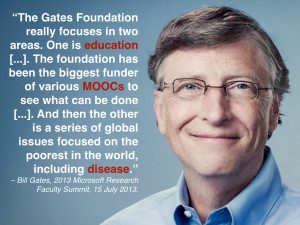 Bill Gates on education, MOOCs, poverty and disease
