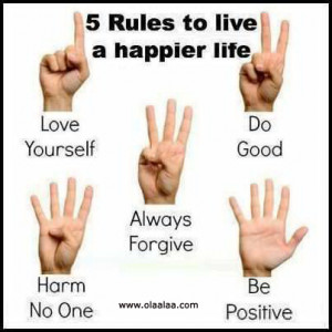 rules to live a happier life