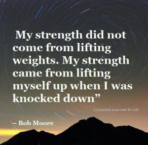 True strength is...