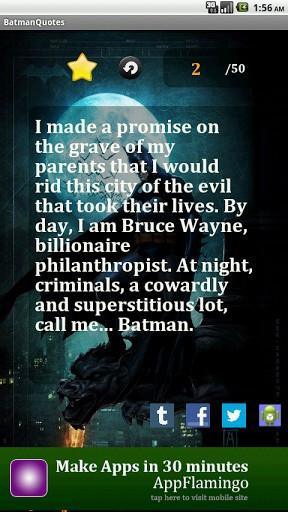 Batman Quotes LWP Screenshot 3