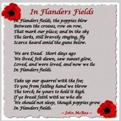 Flanders Fields (36 pieces) World War I...may we never forget those ...