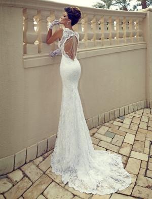 Beaded Back Wedding Dress