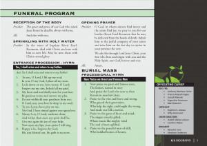 catholic funeral program examples