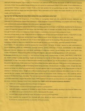 ... Flyer stating the motive (Credit: Lisa Morton/ Van Horn Advocate