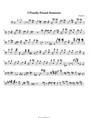 Finally Found Someone > MIDI-Score Track 3