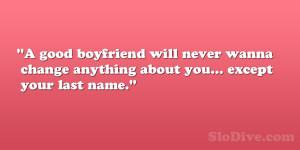 good boyfriend quotes