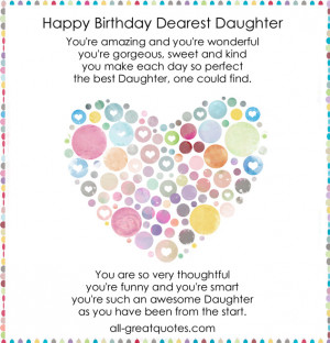 Daughter Birthday Quote Free Quotes