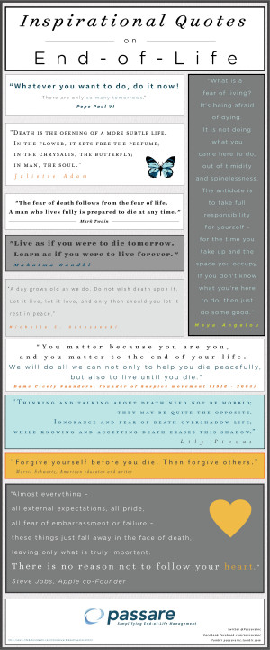 Quotes on End of Life Infographic Inspirational Quotes on End of Life ...