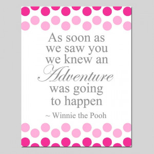 Winnie The Pooh Adventure Quote 8x10 Polka Dot Mixed by Tessyla, $20 ...