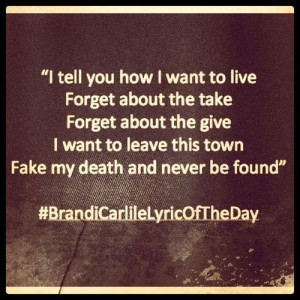 Brandi Carlile Story Lyrics