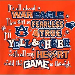 auburn tigers girl quotes | Auburn Tigers T-Shirts - Yell & Cheer ...