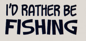 Rather Be Fishing Car Decal Stickers