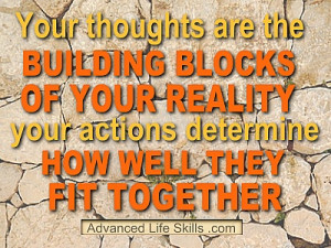 The relationship between your thoughts and actions.