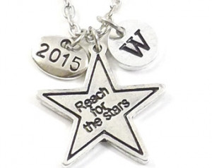 Reach for the Stars Graduation Neck lace, Class of 2015, Personalized ...