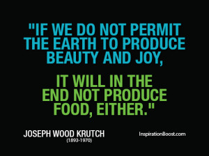 Earth Hour Quotes – Joseph Wood Krutch