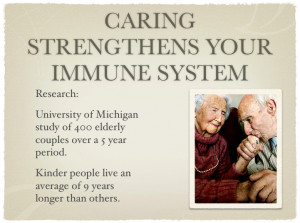 Caring Strengthens your Immune System and Helps you Live Longer
