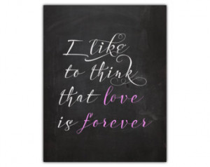 wall art - chalkboard hom e wall decor - marriage forever quote ...