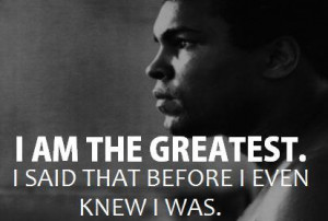 ... you think it is, you are as old as you think you are. – Muhammad Ali